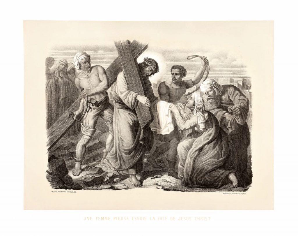 šesté zastavení: Veronika podává Pánu Ježíši roušku
