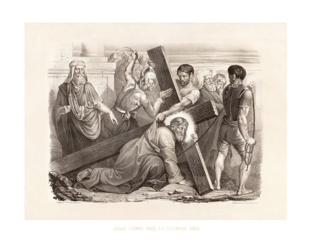 sedmé zastavení: Druhý pád Ježíše Krista