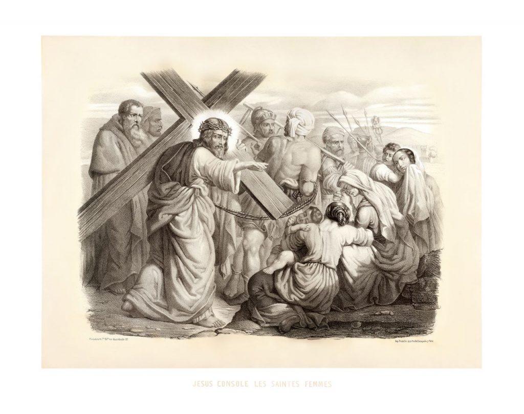 osmé zastavení: Ježíš napomíná plačící jeruzalémské ženy